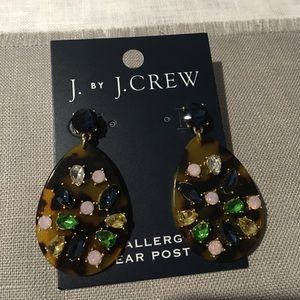 J. Crew Factory tortoise and multi color earrings